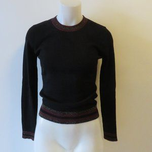 A.L.C. RIBBED CREW-NECK WOOL BLEND SWEATER S/P *